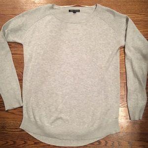Grey crew neck pullover sweater